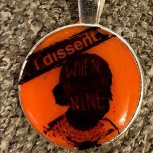 RGB Necklace Pendant Ginsburg Handmade